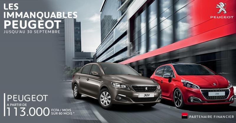 Promo sur la Peugeot 208 et 301 à ne pas manquer