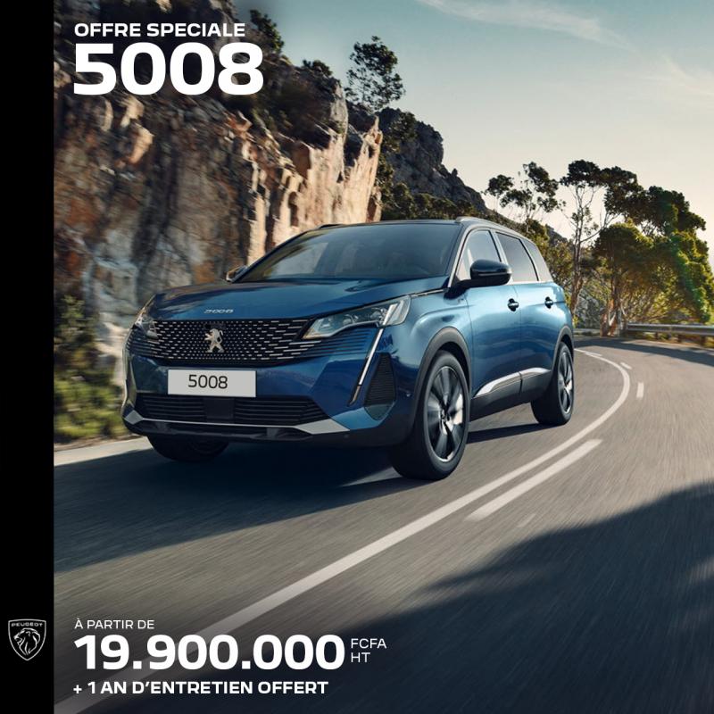Offre spéciale : Nouveau 5008 à partir de 19.900.000 FCFA HT