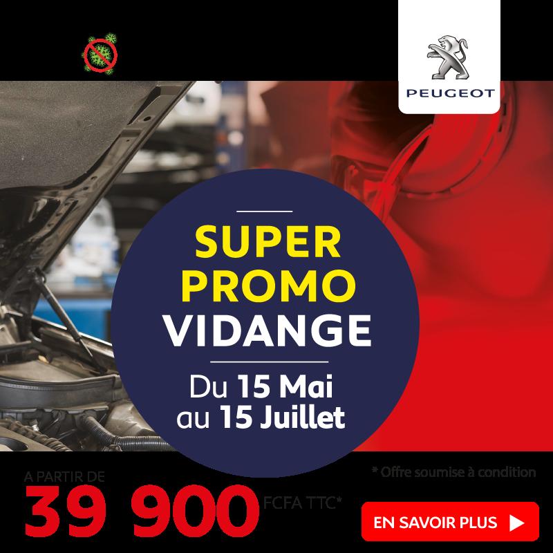 Promo Vidange à partir de 39.900 FCFA | Peugeot Côte d'Ivoire